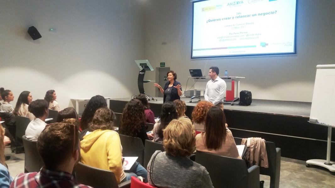 Taller gratuito para emprendedoras en la Cámara Comercio de Badajoz