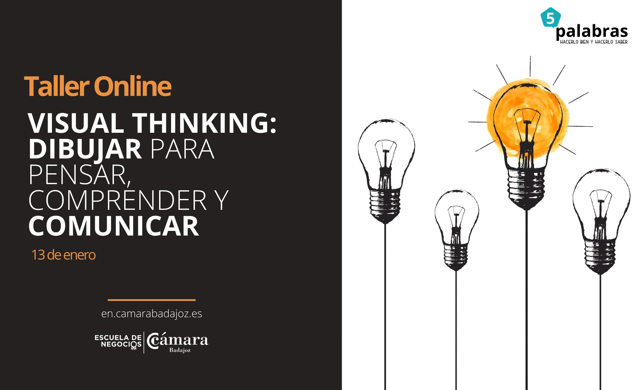 Taller iniciación: Visual Thinking: dibujar para pensar, comprender y comunicar con Sara Martínez