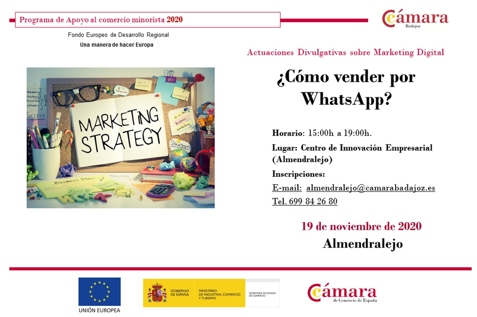 ALMENDRALEJO - Taller PCM: ¿Cómo vender por WhatsApp?